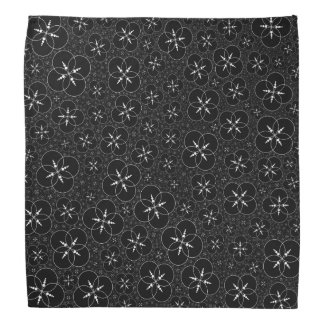 Black White Crop Circle Kerchief