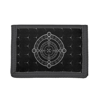 Black White Crop Circle Tri-fold Wallet
