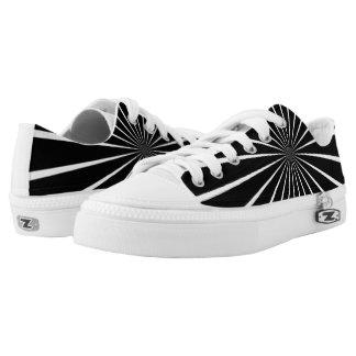 Black & White Custom Printed Zips Shoes Printed Shoes