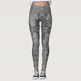 Black & White Daisies Leggings