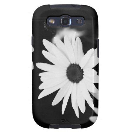 Black & White Daisy Case Galaxy S3 Covers