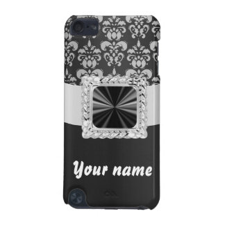 Black & white damask customizable iPod touch 5G case