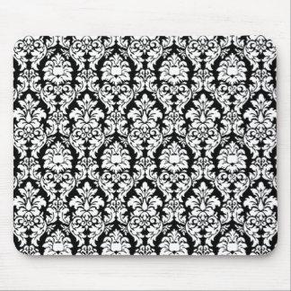 Black White Damask Mousepad