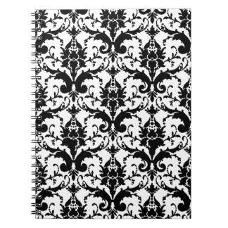 Black/White Damask Notebook