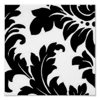 Black & White Damask Posters