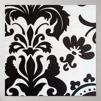Black & White Damask Poster