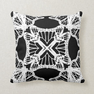 Black White Decorative Modern#1b Throw Pillow