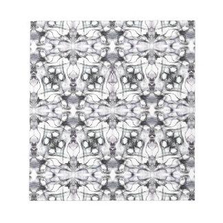 Black & white decorative pattern notepad