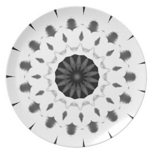 Black & White Decorative Plate