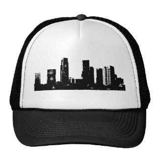 Black & White Design on a Trucker Hat