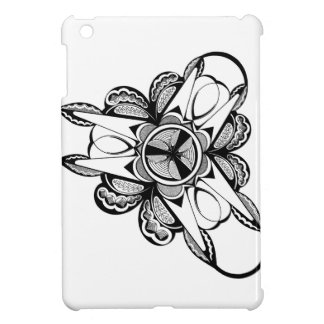 Black & White design on iPad Mini glossy case iPad Mini Cover