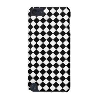 Black White Diamond Check pattern iPod Touch (5th Generation) Covers