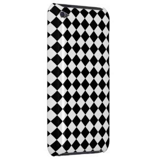 Black White Diamond Check pattern iPod Touch Cases