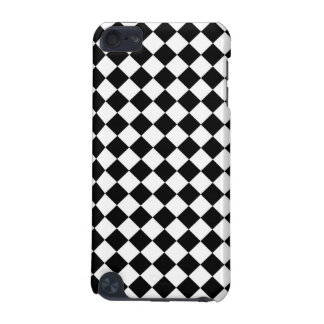 Black White Diamond Checkers iPod Touch (5th Generation) Cases