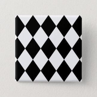 Black & White Diamonds 15 Cm Square Badge