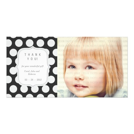 Black & White Dots - Any Occasion Thank you Card