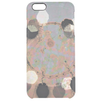 Black white dots grunge style unity digital art clear iPhone 6 plus case