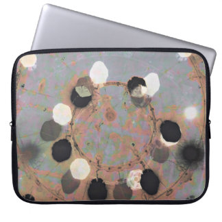 Black white dots grunge style unity digital art computer sleeve