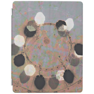Black white dots grunge style unity digital art iPad cover