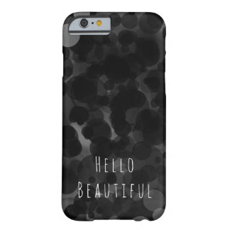 Black & White Dots Modern Chic Party Custom Barely There iPhone 6 Case
