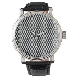 Black White Dots Pattern Minimal Classy Elegant Wristwatch