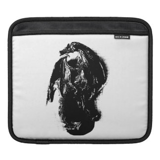 Black & White Dragon iPad Sleeves