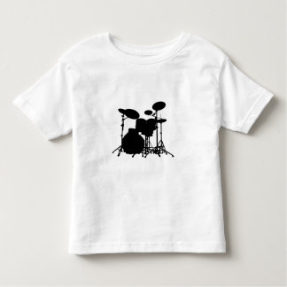 Black & White Drum Kit Silhouette - Drummers T-shirts