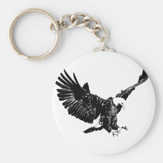 Black & White Eagle Key Ring