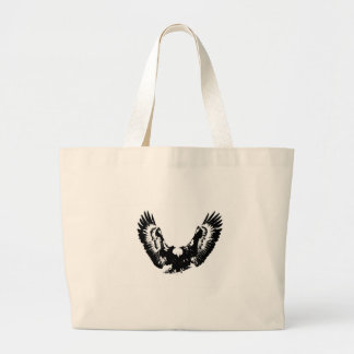 Black & White Eagle Large Tote Bag