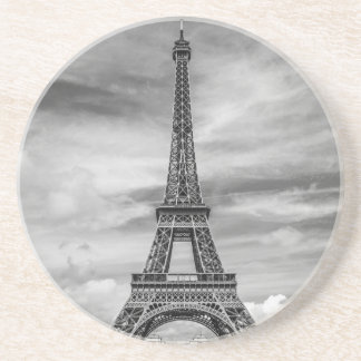Black & White Eiffel Tower Paris France Coaster