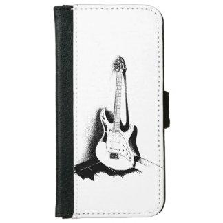 Black & White Electric Guitar - Wallet Case