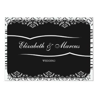 "BLACK & WHITE elegant -  Wedding Invitation 5"" X 7"" Invitation Card"