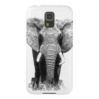 Black & White Elephant Galaxy S5 Cover