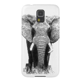 Black & White Elephant Galaxy S5 Cover