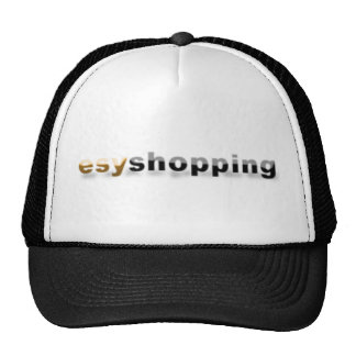 black & white esyshopping trucker hat