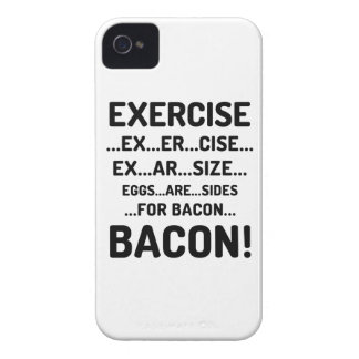 Black & White Exercise for Bacon iPhone 4/4S Case
