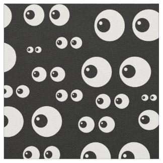 black white eyes fabric