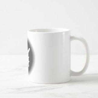 Black white fade airplane design basic white mug