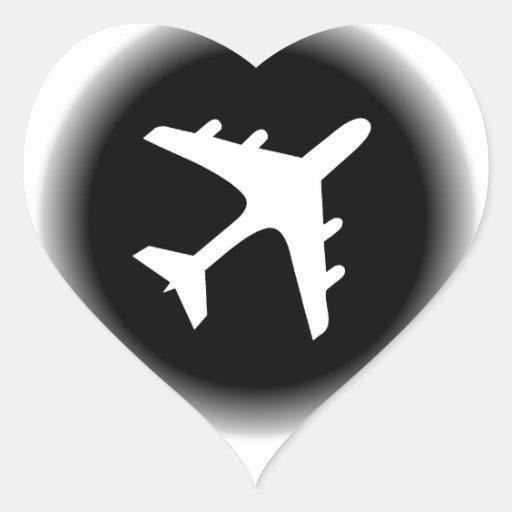 Black white fade airplane design stickers