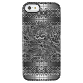 Black & White Fantasy Owl Camouflage Clear iPhone SE/5/5s Case
