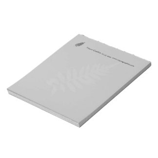 Black & White Fern Business Note Pad