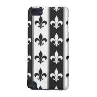 Black White Fleur De Lis Pattern Print Design iPod Touch (5th Generation) Cover