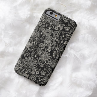 Black & White Floral Damask Pattern iPhone 6 case Barely There iPhone 6 Case