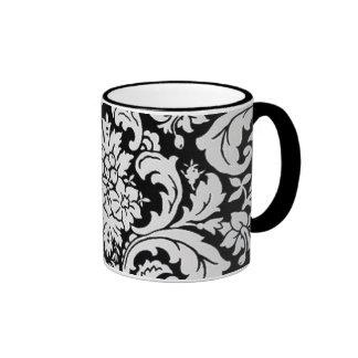 Black & White Floral Coffee Mugs