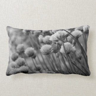 Black White Floral Photography American MoJo Pillo Throw Cushion