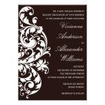 BLACK & WHITE FLOURISH | WEDDING INVITATION