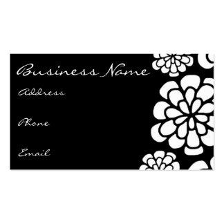 Black & White Flower Business Card
