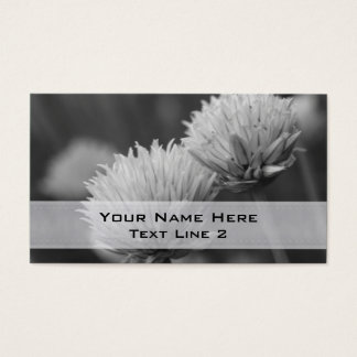 Black White Flower Pair Business Card