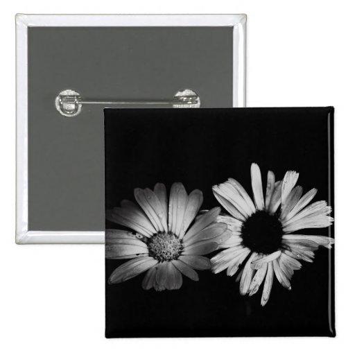 Black & White Flowers Pins