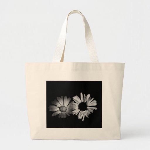 Black & White Flowers Canvas Bags